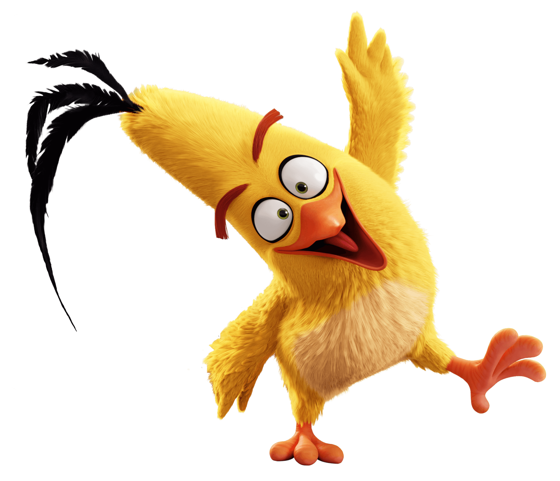 Angry Birds Chuck transparent PNG.