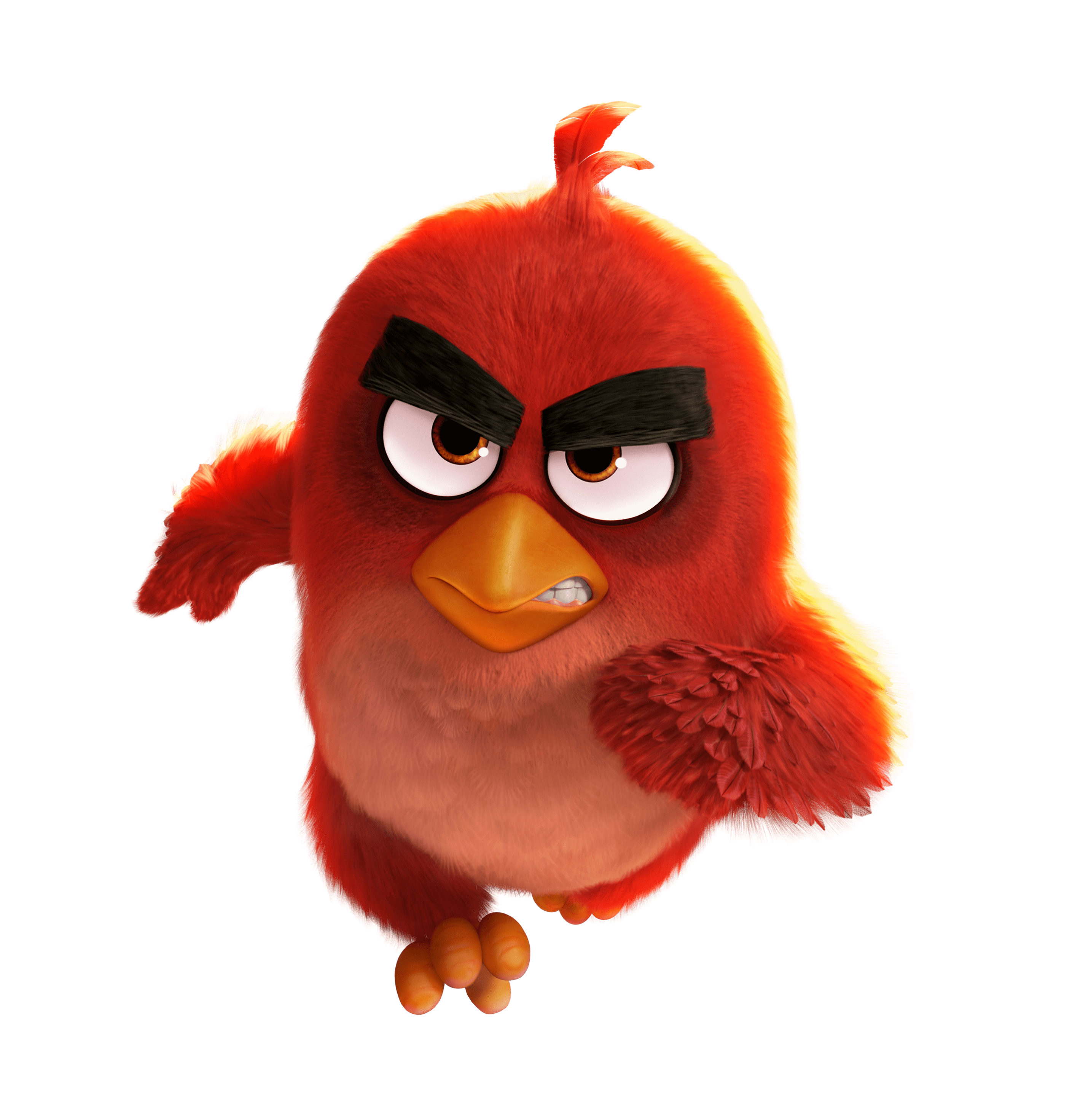 Angry Birds Movie Running Red Bird transparent PNG.
