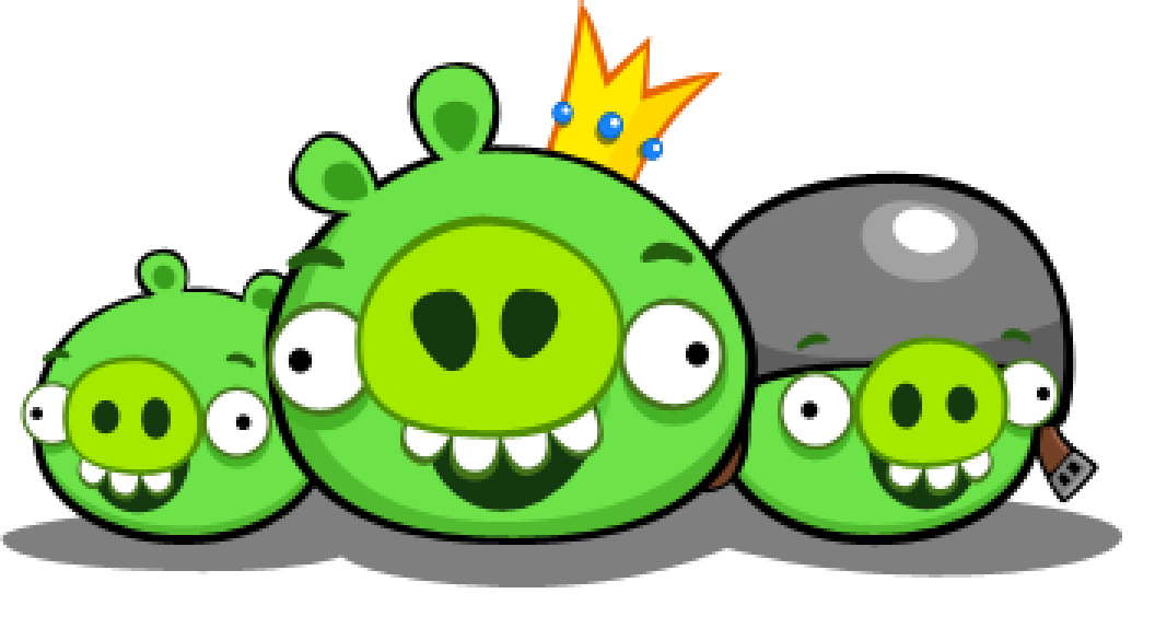 Angry bird pig clipart.
