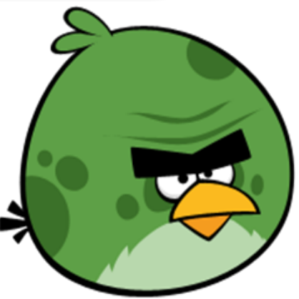 Angry birds space: green bird.