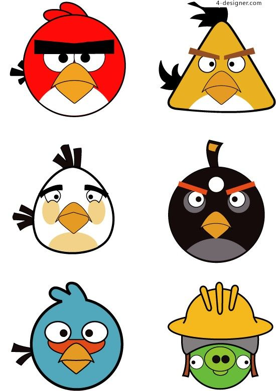 angry birds face clipart.