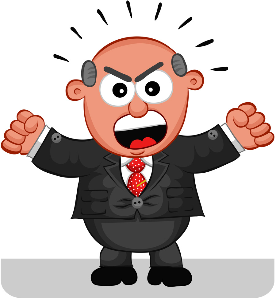 Angry Boss Clipart.
