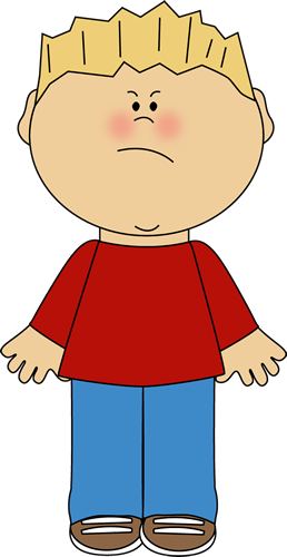 Angry Teacher And Student Clipart.
