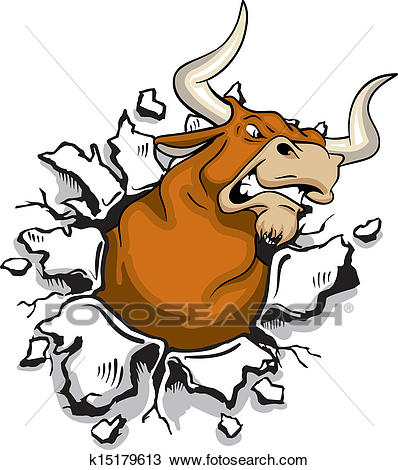 Angry Bull Clipart.