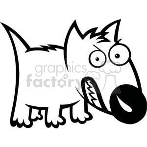 cute feisty cartoon dog clipart. Royalty.