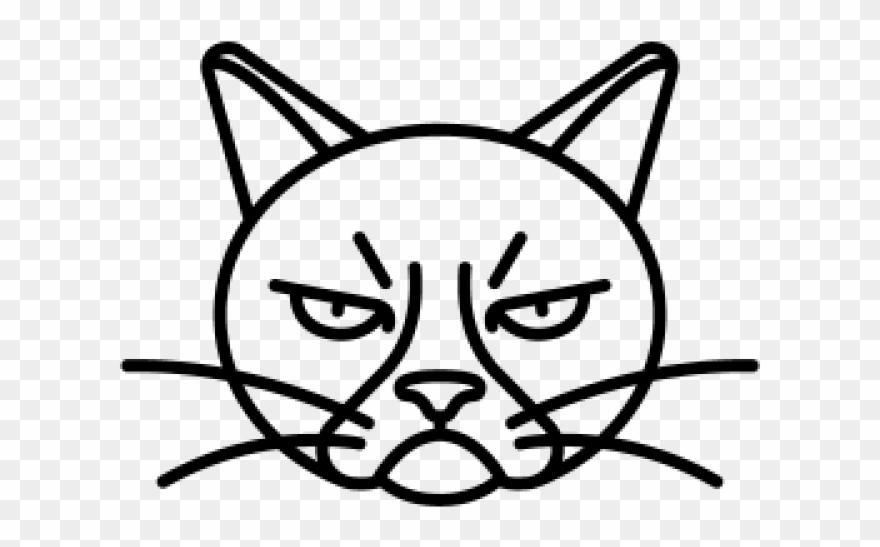 Drawn Grumpy Cat Angry.