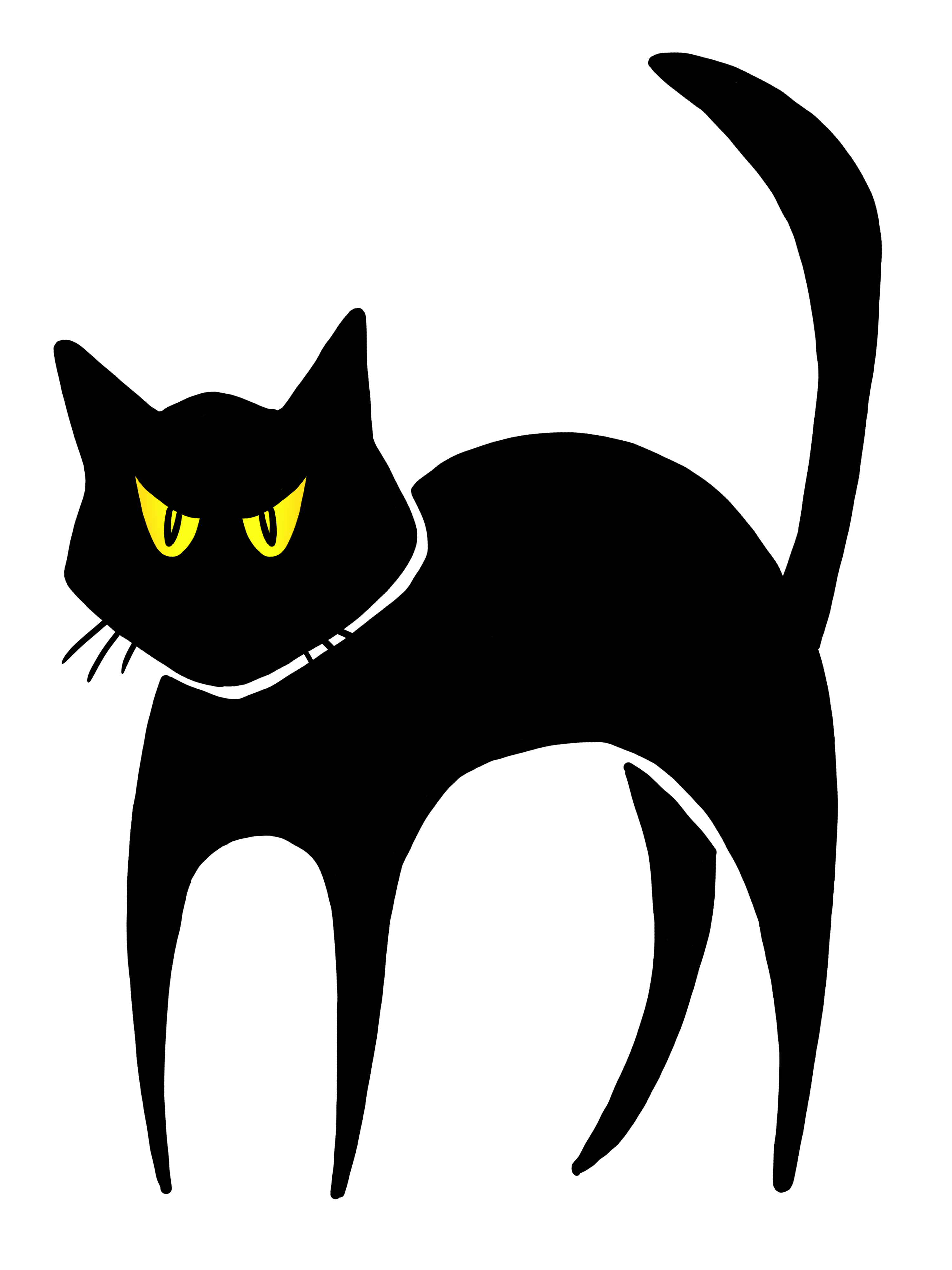 Angry Black Cat Clipart.