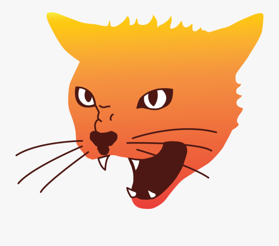 Clip Art Angry Cat Face.