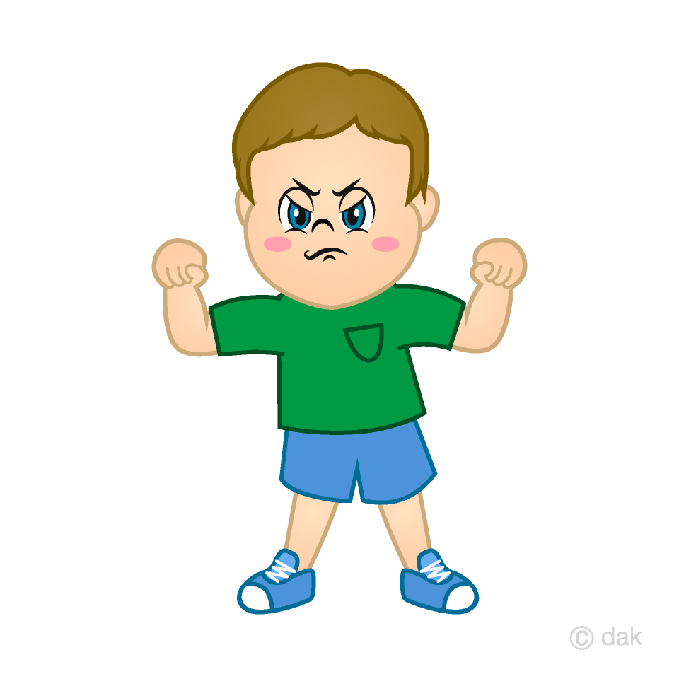 Angry Boy Clipart Free Picture|Illustoon.