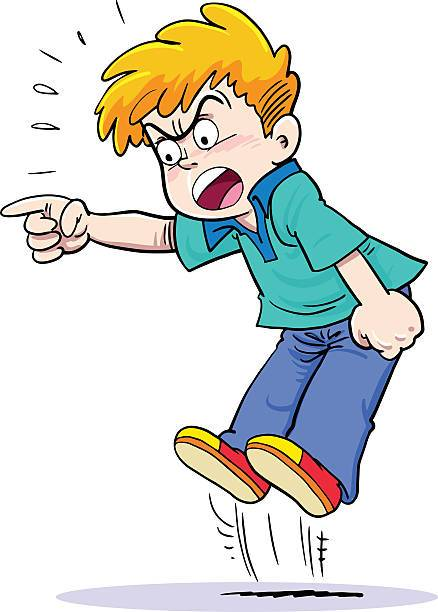 Angry child jumping and crying. » Clipart Portal.