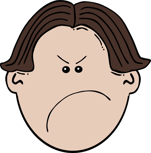 Angry Face Clipart.