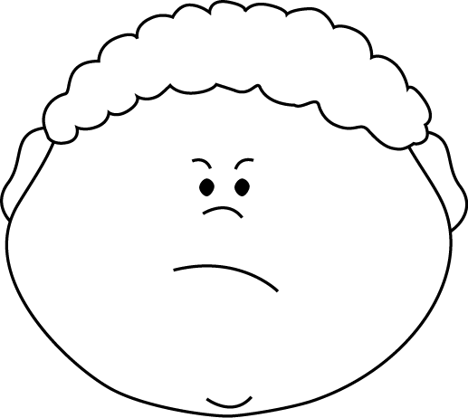 Angry Clipart Black And White.