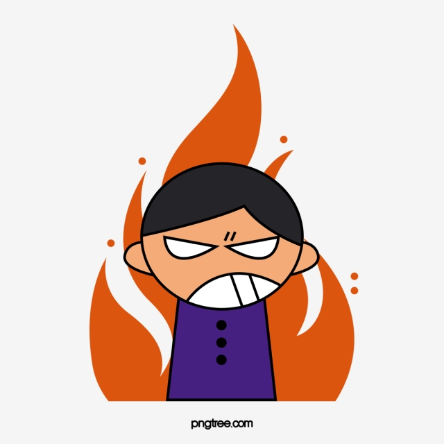 Cartoon Angry Boy, Cartoon Clipart, Angry Clipart, Boy Clipart PNG.