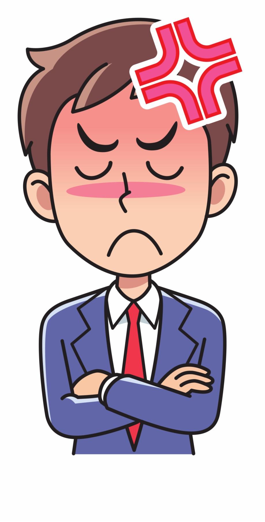 Business Man Angry Big Image Png.