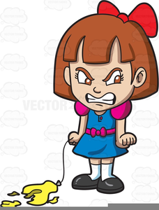 Angry Children Clipart.
