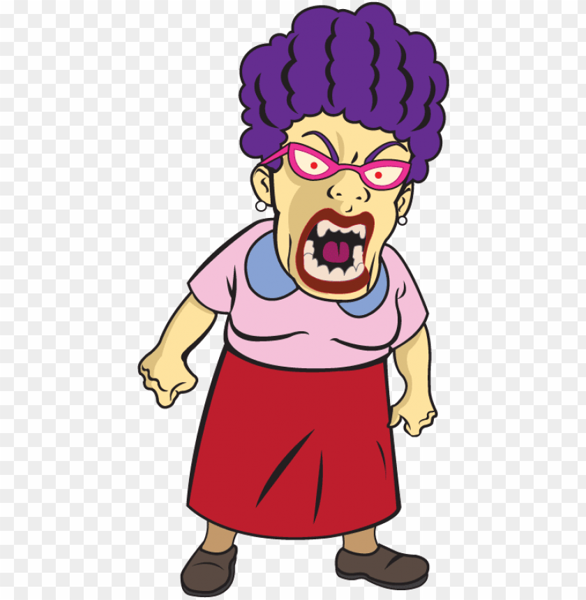 clipart royalty free collection of angry old lady high.