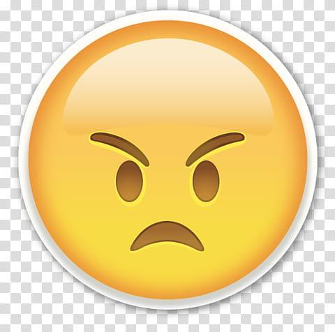 EMOJI STICKER , angry emoticon art transparent background.