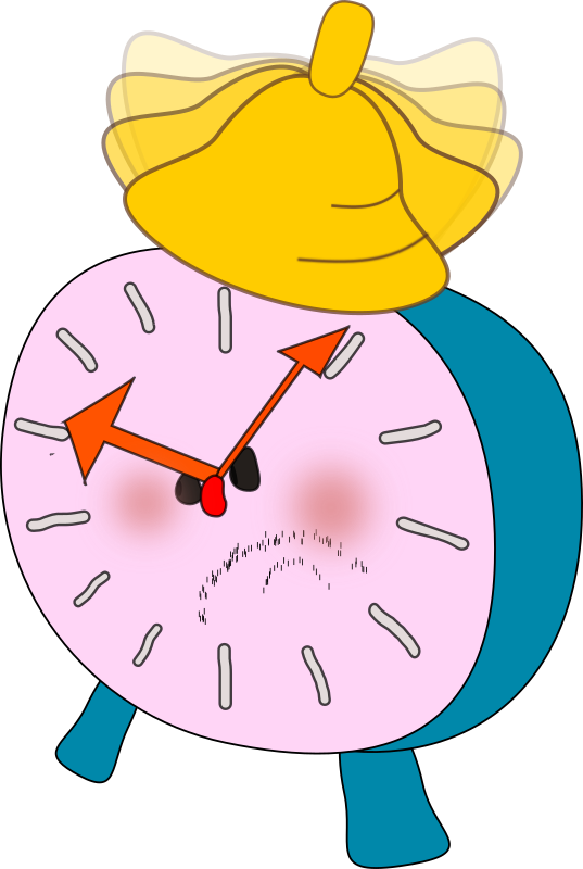 Alarm Clock Is Angry By Olku clipart free image.
