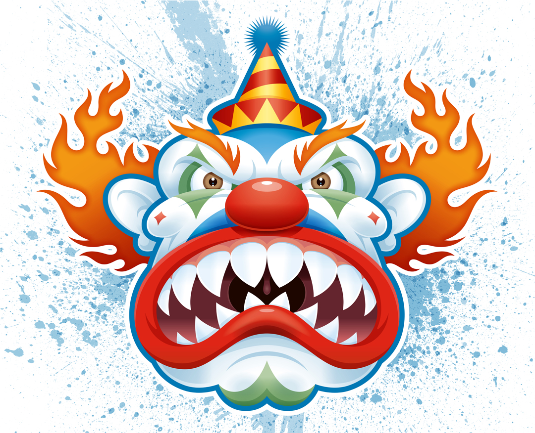 Free Scary Cartoon Clowns, Download Free Clip Art, Free Clip.