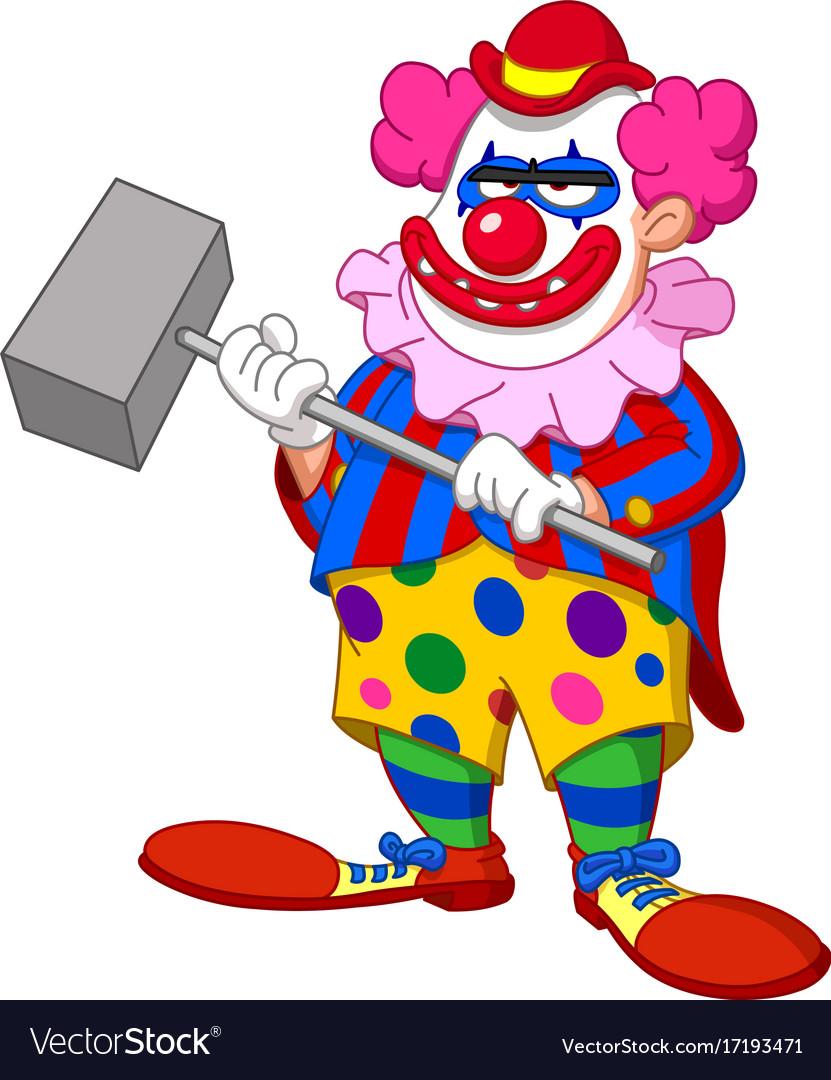 Evil scary clown.