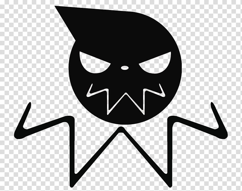 SoulEater Logo, angry clown logo art transparent background.
