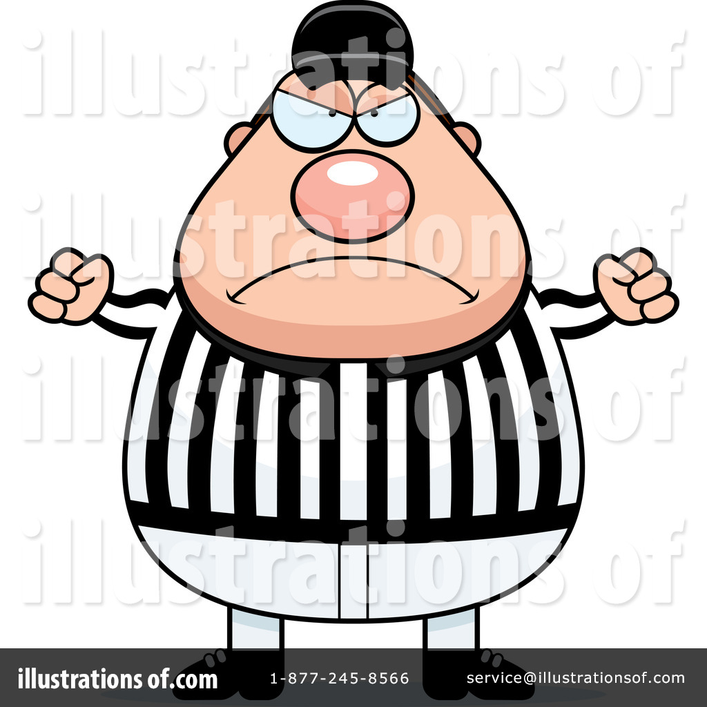 Angry fat coach clipart.