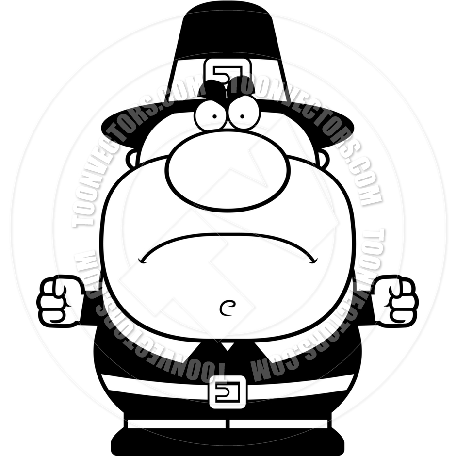 Angry Pilgrim Clipart.
