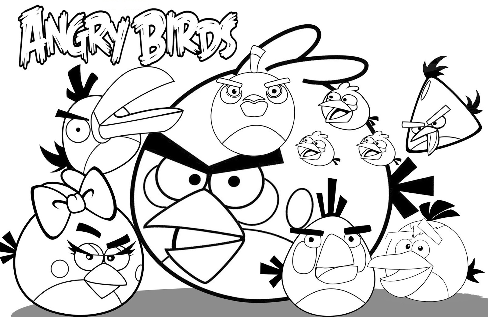 Angry Birds Coloring Pages Free To Print.