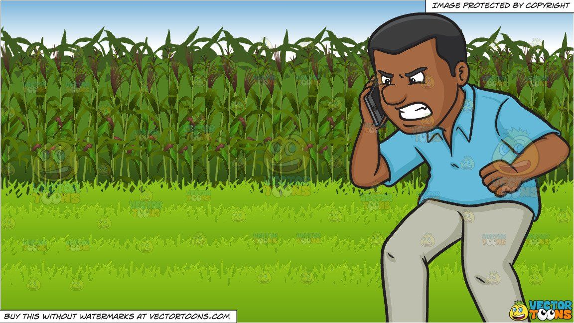 clipart #cartoon An Angry Black Man Scolding Someone On The.