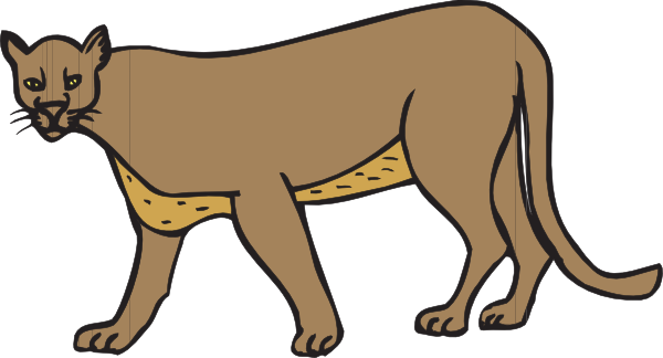 Angry cougar clipart hd.