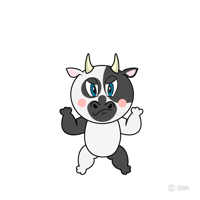 Free Angry Cow Cartoon Image|Illustoon.