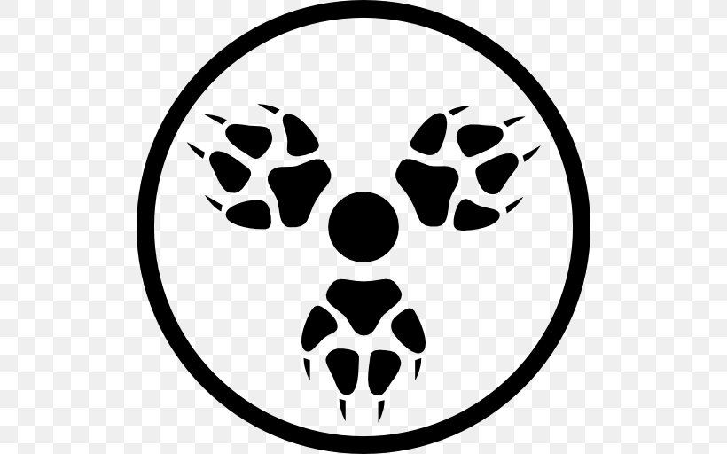 Coyote Symbol Paw Clip Art, PNG, 512x512px, Coyote, Black.