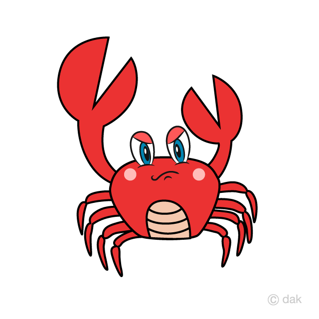 Angry Crab Cartoon Free Picture|Illustoon.