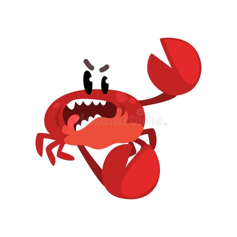 Angry Crab Stock Illustrations.