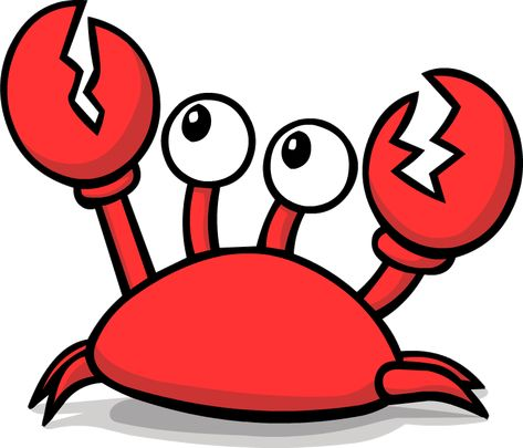 angry crab clip art.