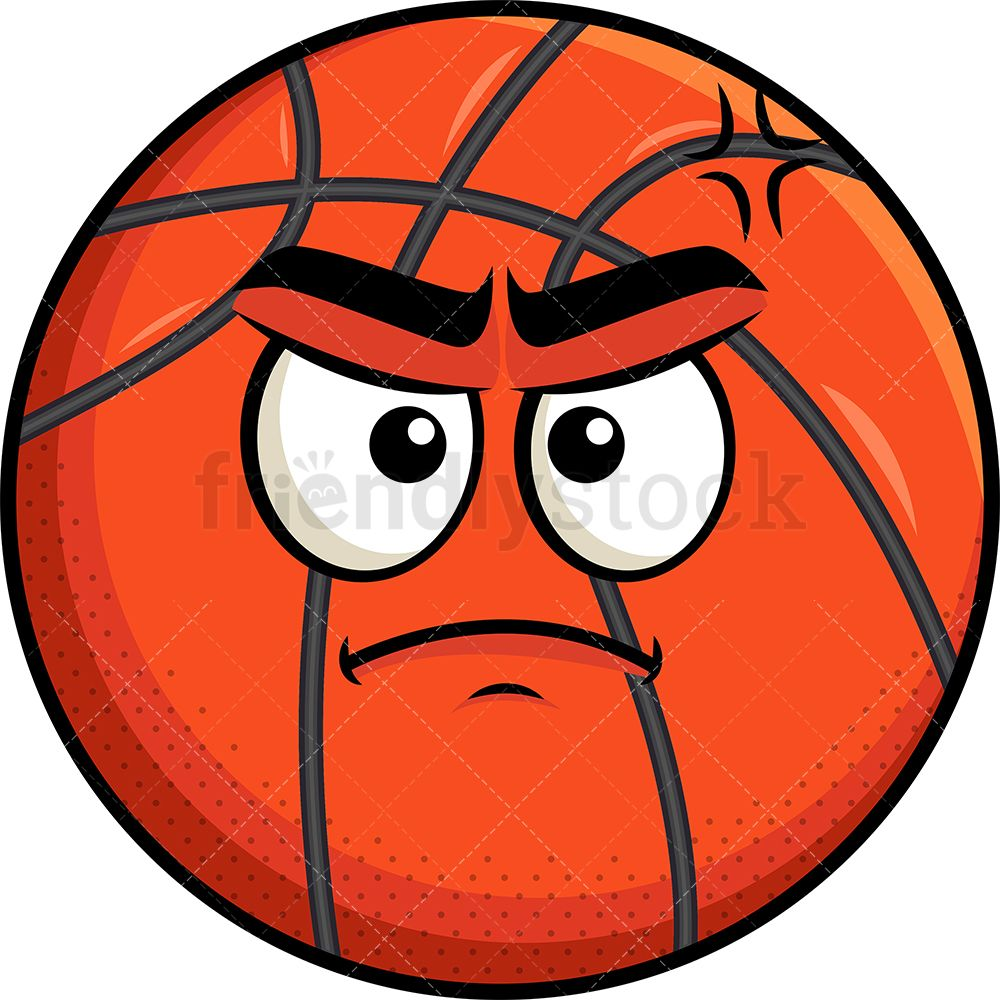 Upset Basketball Emoji.
