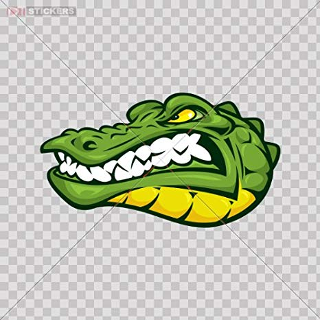 Amazon.com: Stickers Angry Crocodile Color Print (8 X 4.6.