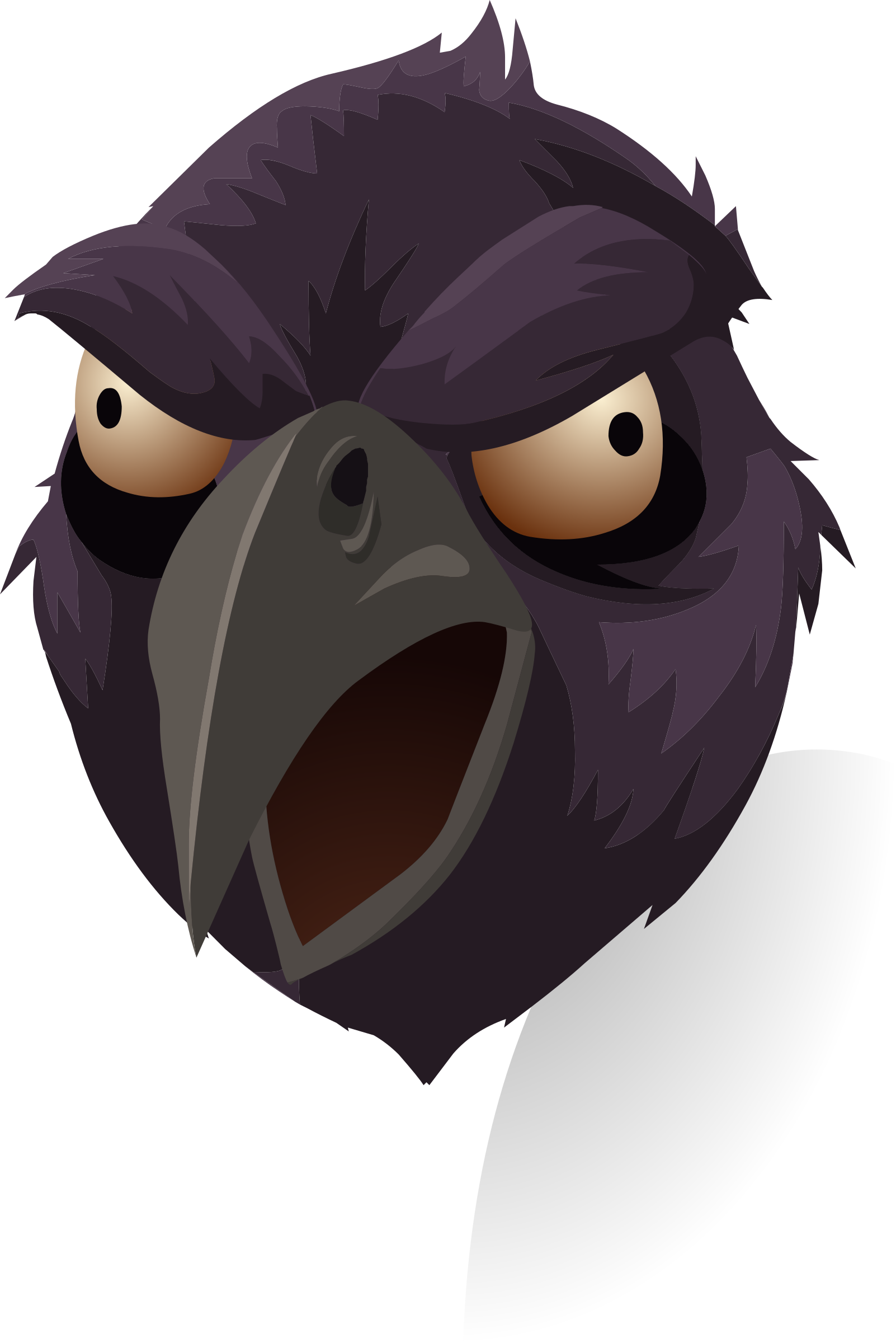 Crow clipart angry, Crow angry Transparent FREE for download.