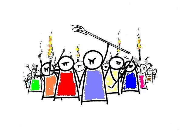 Angry Crowd Clipart & Free Clip Art Images #15527.
