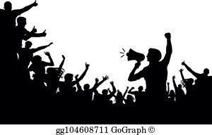 Angry Mob Clip Art.