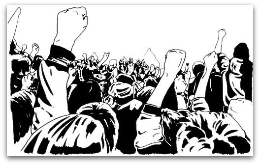 angry crowd clipart.