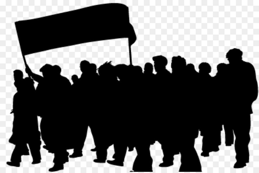 Crowd Silhouette Anger Clip Art.
