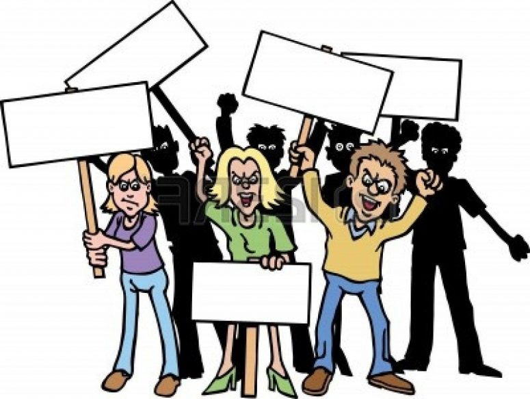Crowd Of Angry People Clipart.