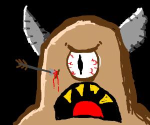 Angry cyclops.