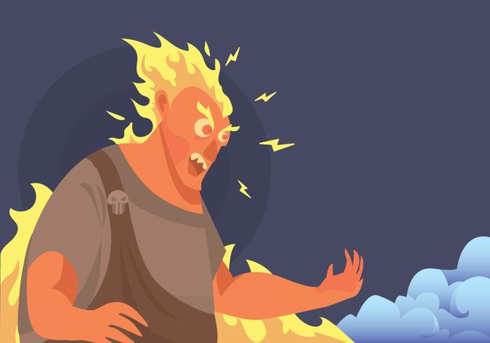 Angry Hades Vector.