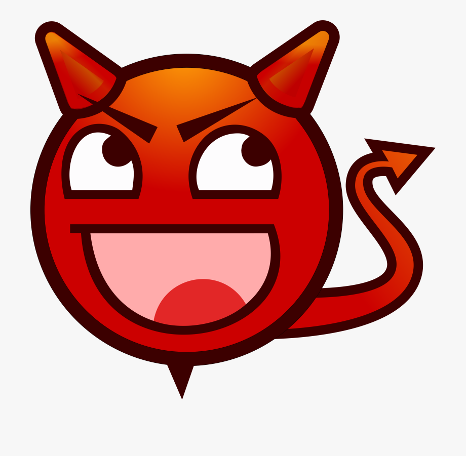 Demon Clipart Smiley Face.