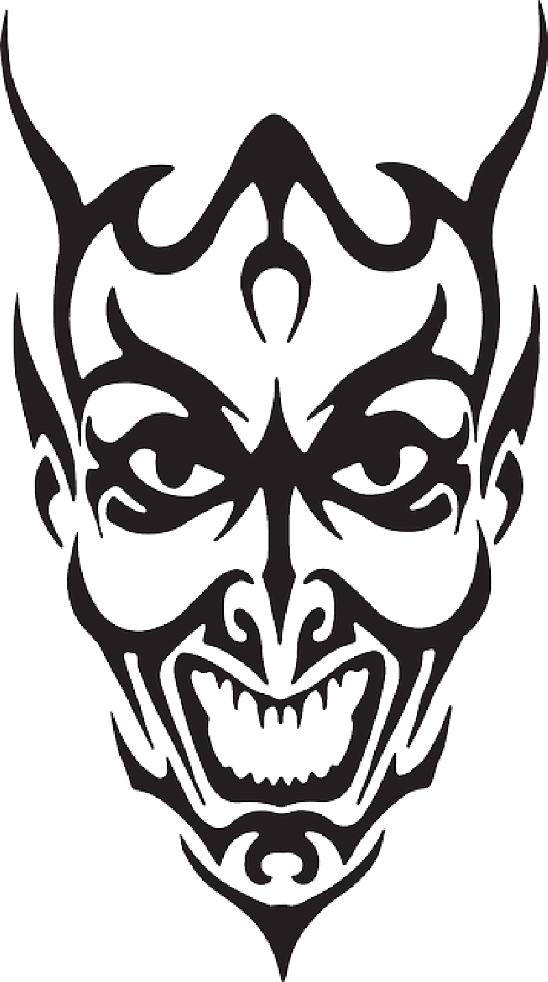 Angry demon face clipart clipart images gallery for free.