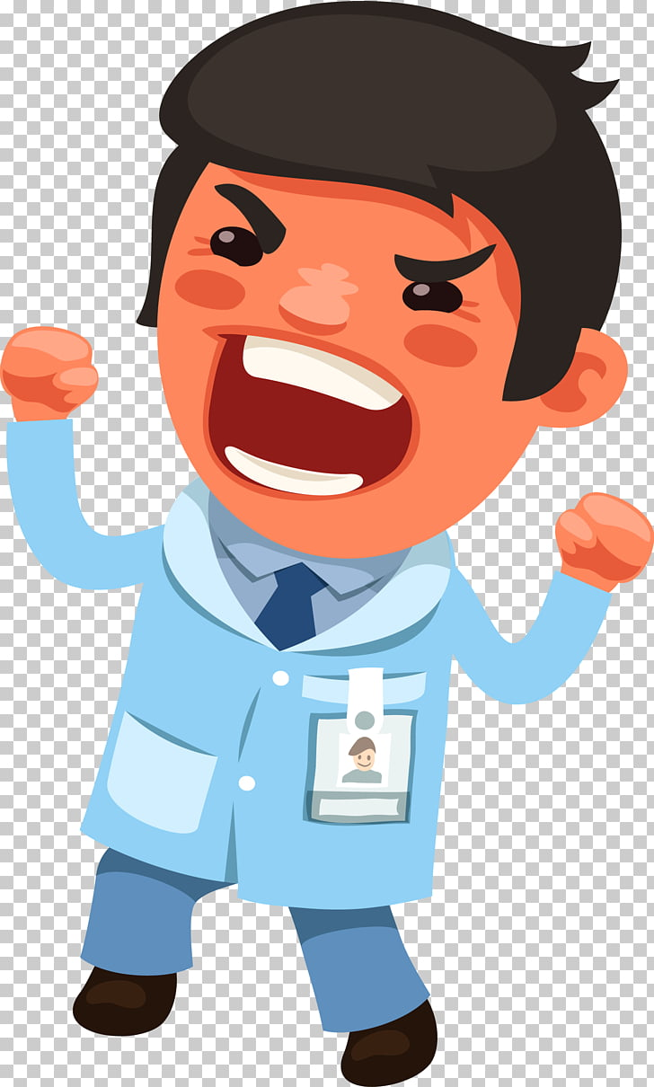 Physician Euclidean , An angry male doctor PNG clipart.