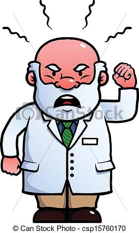 Angry Doctor Clipart.