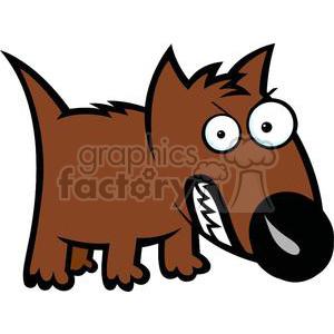 angry dog cartoon clipart. Royalty.